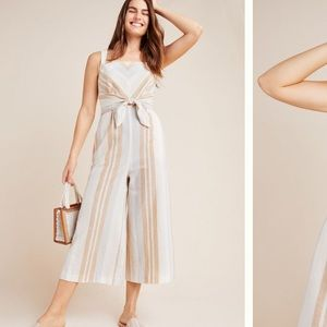 Anthropologie striped jumpsuit